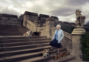 Queen-Elizabeth-with-dofs-at-Windsor-for-her-90th