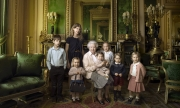 Queen-Elizabeth-with-great-grand-children-for-her-90th