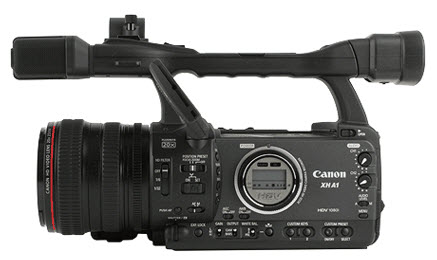 Canon XH A1 side-on
