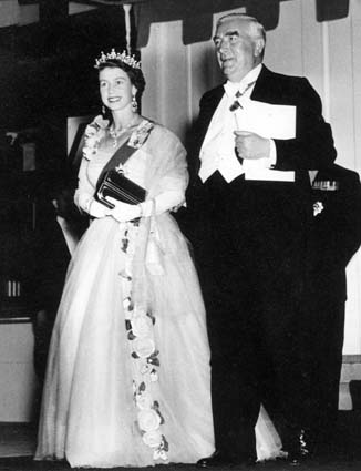 Queen Elizabeth II and Prime Minister Menzies