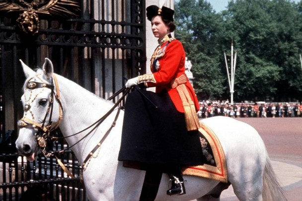 The Queen on horse